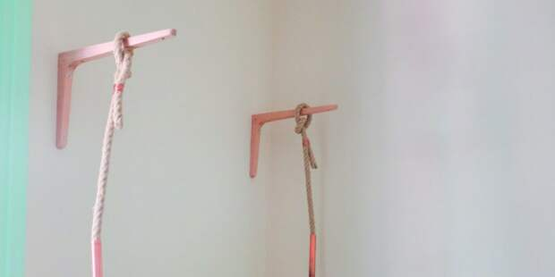 Вешалка из трубы и веревки (Diy)