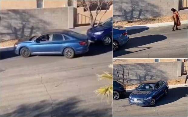 Одна девушка помогла другой припарковаться. Все гадают – зачем?!