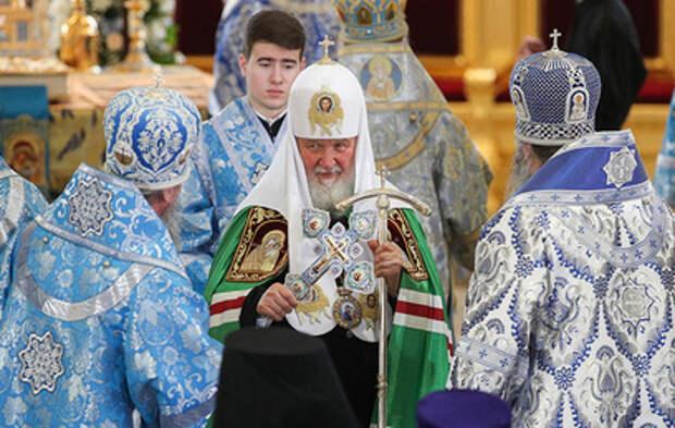 Патриарх Кирилл освятил восстановленный собор в Казани