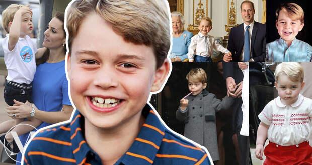 Кейт Миддлтон и принц Уильям поделились новым фото своего сына Джорджа в день его восьмилетия