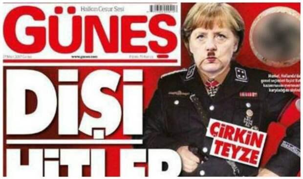 И излюбленный прием многих изданий - сравнение с Гитлером издания, издевательство, интересное, мир, обложки, политики, странное