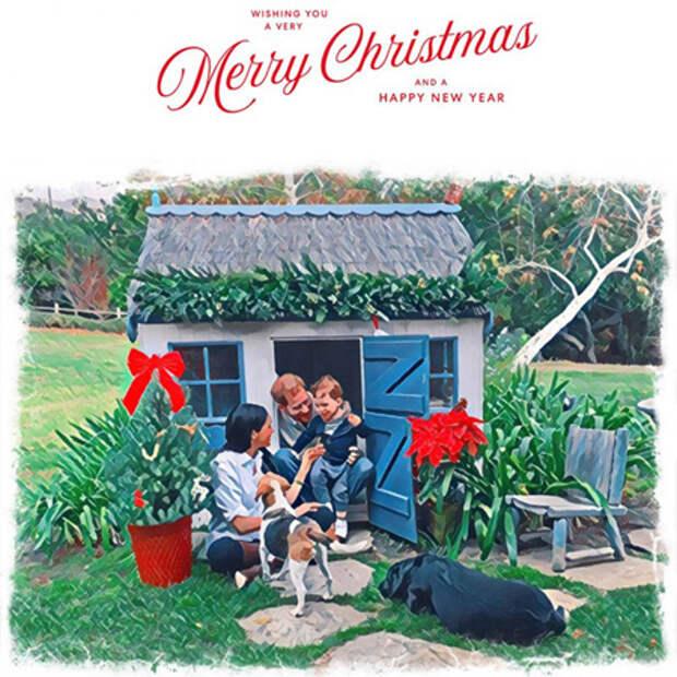 Принц Гарри и Меган Маркл представили вторую рождественскую открытку