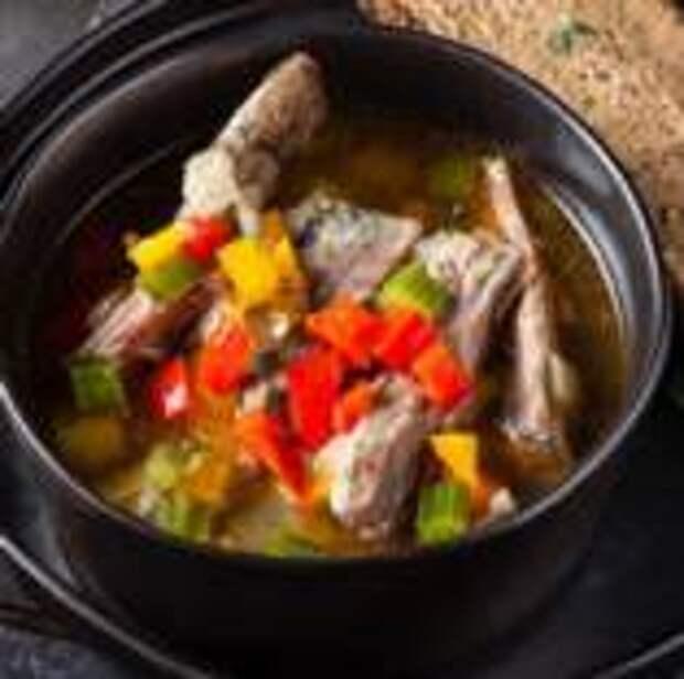 Ударь по рёбрам - Суп из бараньих ребер с сельдереем и перцем