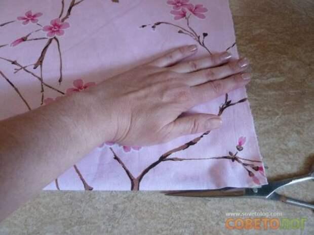 Как правильно отрезать ткань