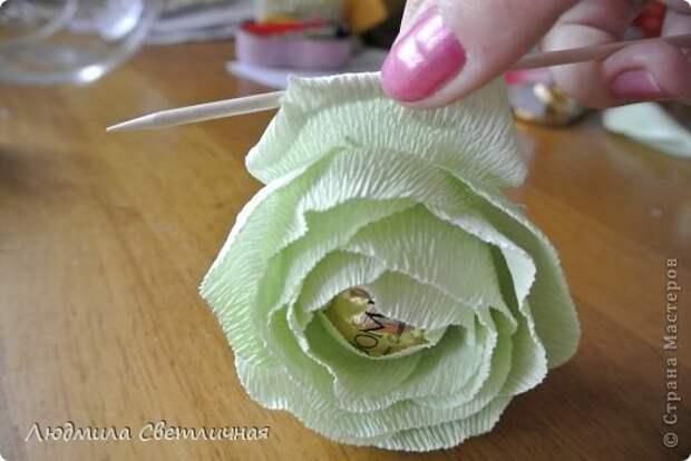 Мастер-класс Свит-дизайн Моделирование конструирование Роза для Колибри Бумага гофрированная фото 11