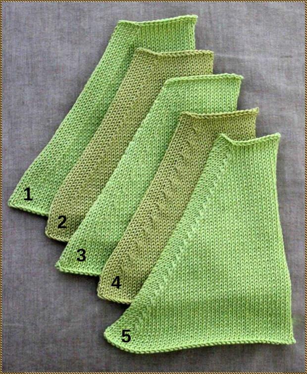 Пять способов  выполнения убавления петель в вязании спицами
