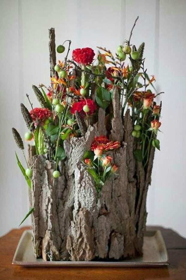 Цветы в дереве (подборка)
