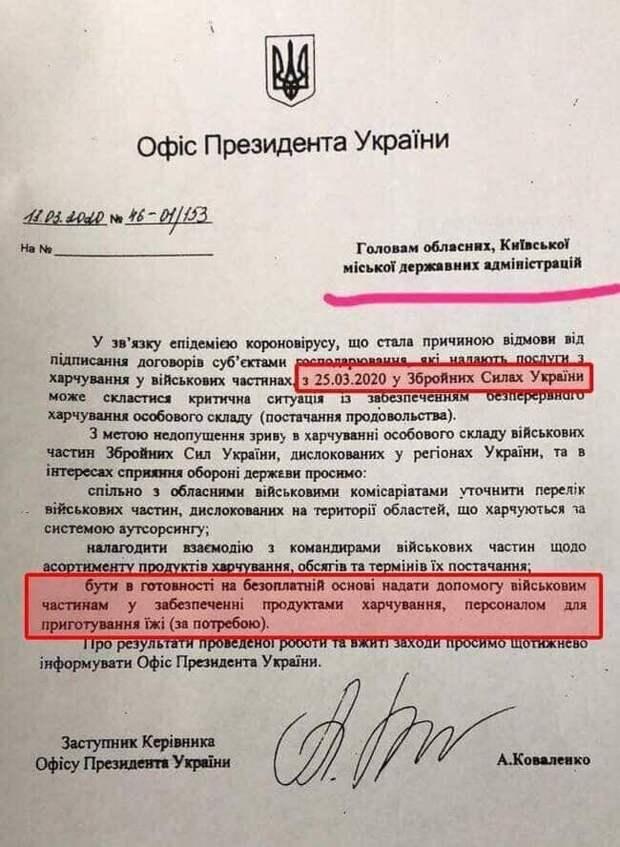 ВСУ могут остаться без еды: Киев решил перекинуть на людей оплату питания военных