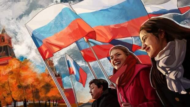 Флаг России в горсовете Славянска встретили бурными аплодисментами