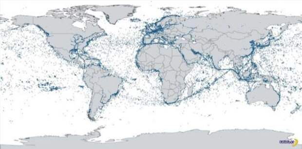 Первая карта, выданная спутником ESAIL