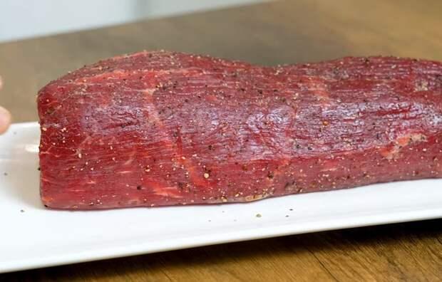 Мясо шиворот-навыворот - сочная говядина, запеченная в духовке Мясо, Говядина, Вырезка, Видео, Длиннопост, Рецепт, Кулинария