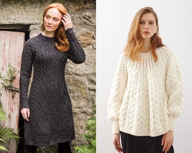 Трикотаж, косички, ромбики: 7 небанальных идей для тёплого ирландского свитера