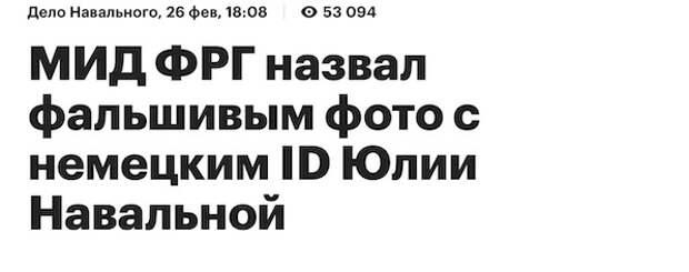 Закроем тему: Немецкий паспорт Юлии Навальной - фальшивка