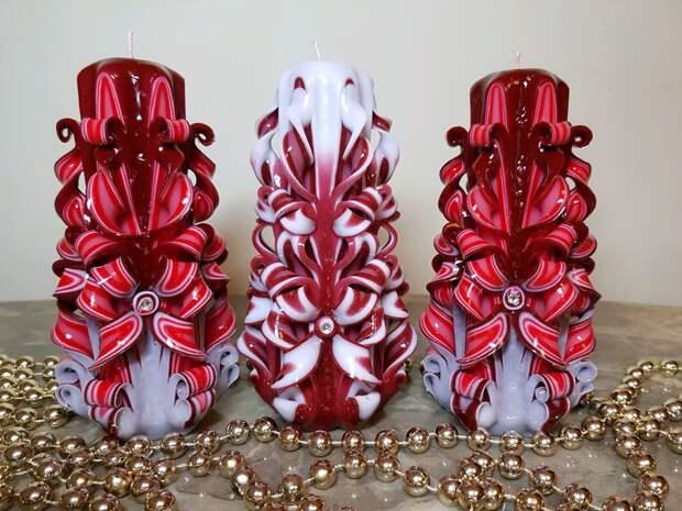 Резные свечи как элемент декора или