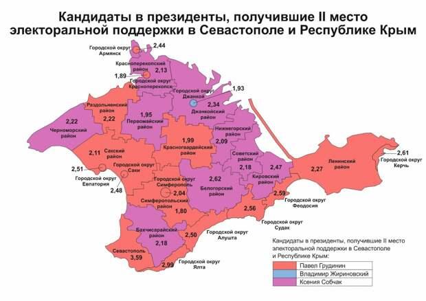 География и рекорды электоральной поддержки кандидатов в Крыму и Севастополе 4