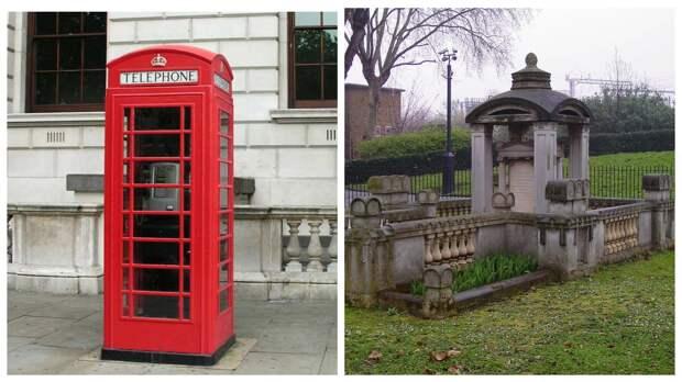 Задушевный разговор: знаменитая красная телефонная будка скопирована снадгробия
