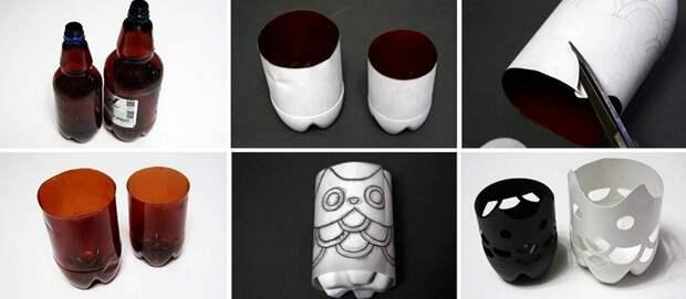 как сделать вазу-сову
