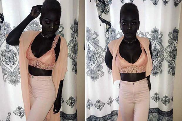 Королева тьмы: модель с угольно-черной кожей собрала армию поклонников