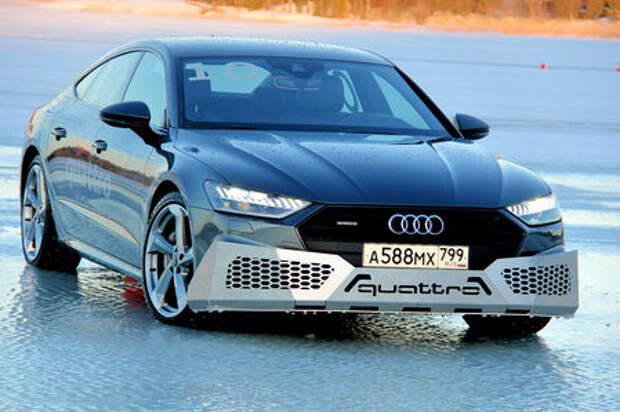 Новая Audi A7: тест-драйв под треск льда