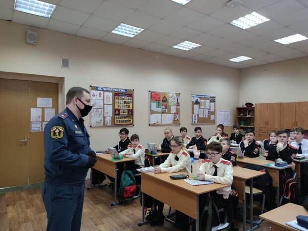 В школе Алтуфьева провели урок мужества