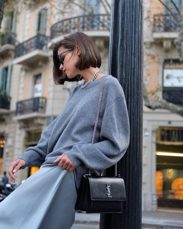 Роскошные образы для любительниц серого цвета осень-зима