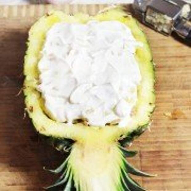 Запеченный ананас с фаршем под сырной корочкой- шаг 7