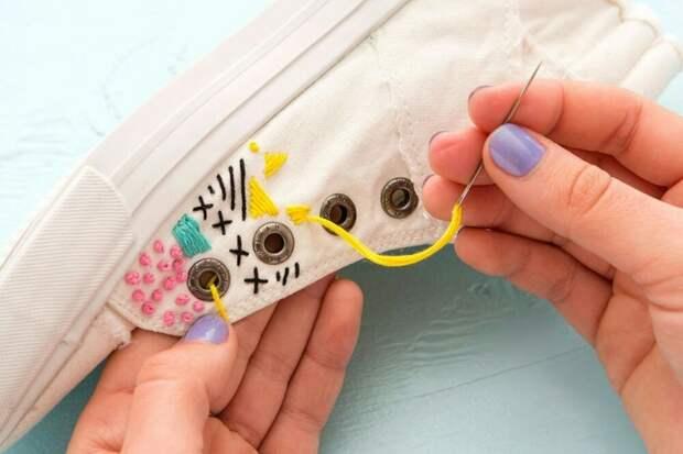 Вышивка по кедам (diy)