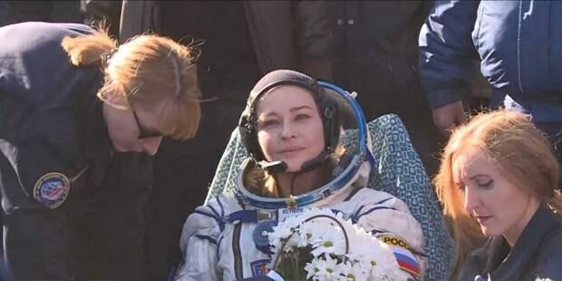 Пересильд рассказала о своих переживаниях после возвращения с МКС
