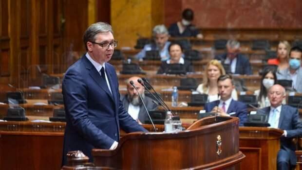 Народная скупщина аплодисментами встретила слова Вучича о том, что Белград никогда не признает Косово