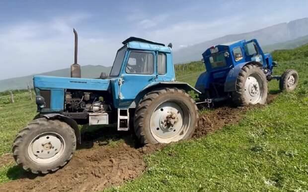 Очная ставка: битва тракторов МТЗ-82 и Т-40 (видео)