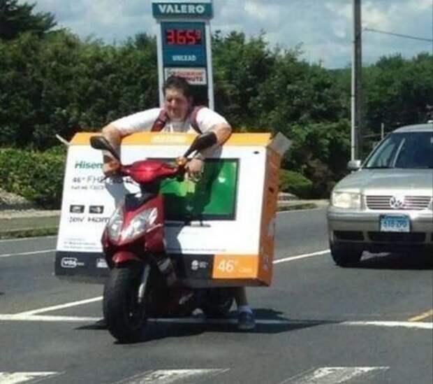 Груз перевезти нужно? Конечно! велосипед, груз, интересное, мопед, мотоцикл, перевозка, смешно, юмор