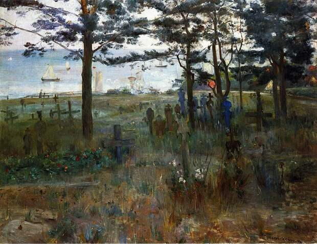 Lovis Corinth. Kirchhof in Nidden. 1893. oil on canvas. Neue Pinakothek