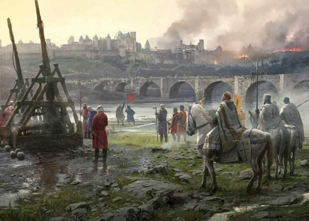Войска осаждают замок. Источник фото: yandex.ru