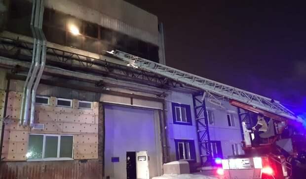 ВЕкатеринбурге ночью случился пожар впроизводственном здании