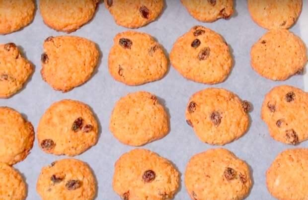 домашнее печенье из овсяных хлопьев быстро