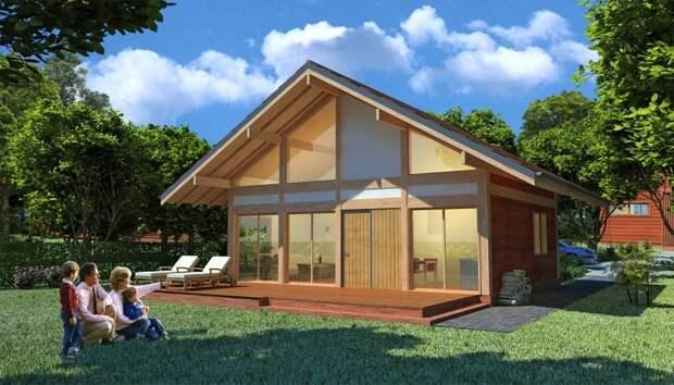 Легкое решение для небольшого дачного дома, где-нибудь в Европе. В России и Беларуси отопить такой дом будет очень сложно.