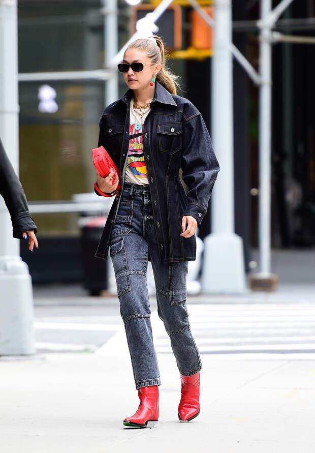С чем носить джинсовую куртку оверсайз в 2021 году