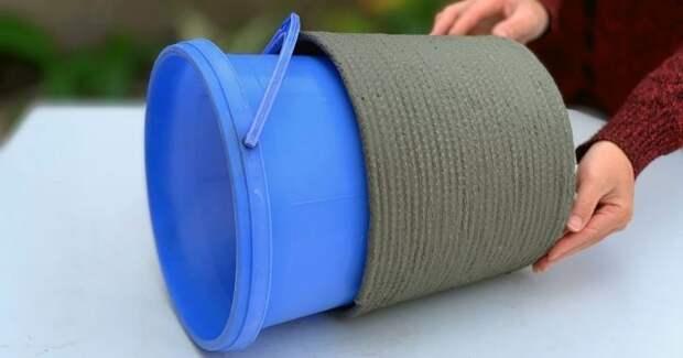 Интересная, необычная и полезная идея для дачников из стандартные материалы, которые обычно есть у многих