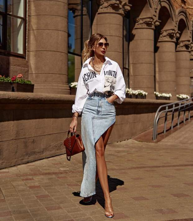 Как стильно носить юбку макси: 16 крутых примеров, которые сделают вас королевой