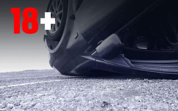 Адская парковка кувырком: пассажира выкинуло из машины на лету!