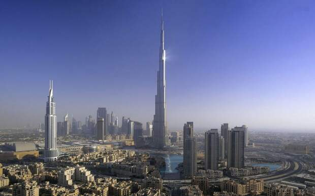 Самое высокое здание: Бурдж-Халифа, Дубай, ОАЭ