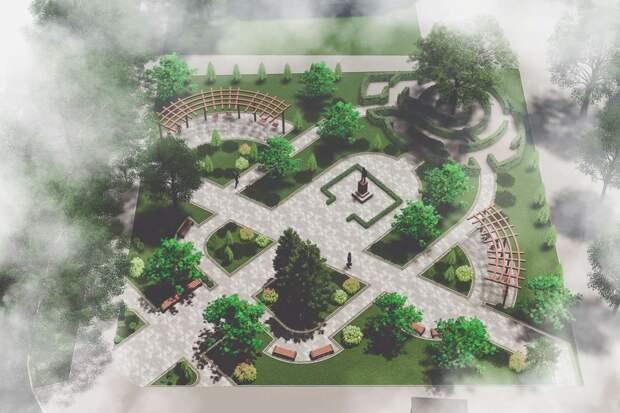 В Симферополе благоустроят сквер имени Радонежского