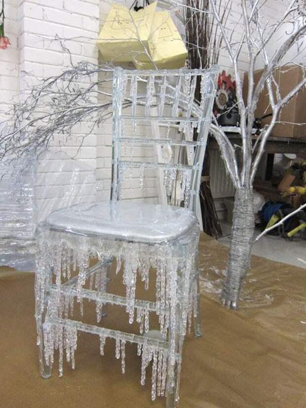 Новогодний лед из горячего клея — уникальные поделки родом из сказки