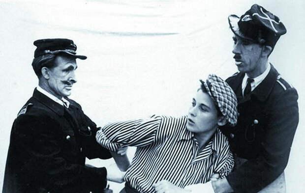 Юрий Никулин на арене цирка