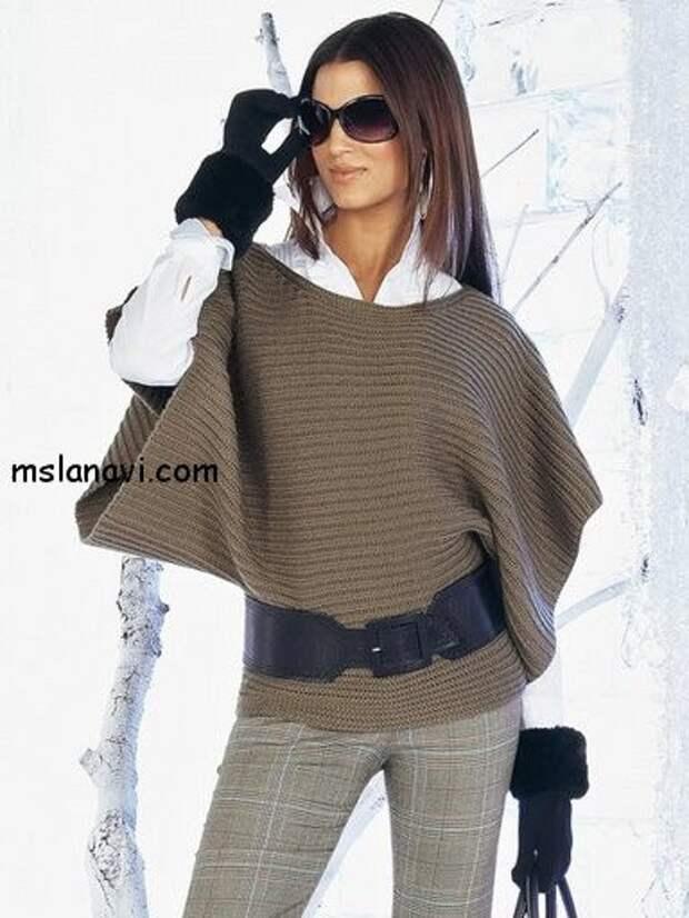 Т-образный пуловер