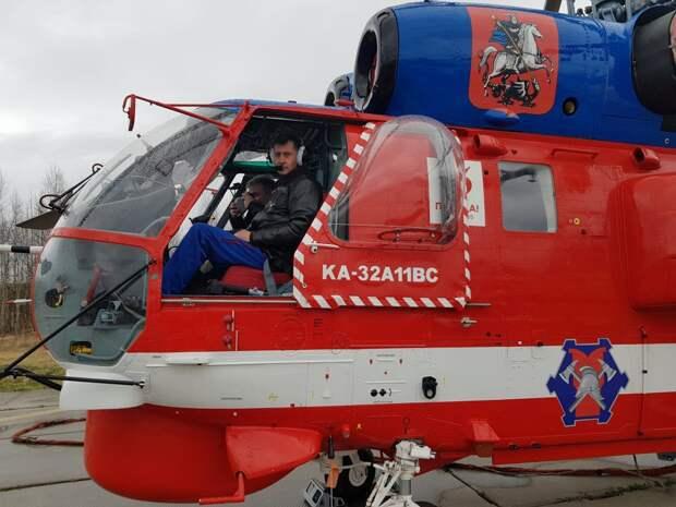 Пожар на Перерве потушил командир эскадрильи вертолетов
