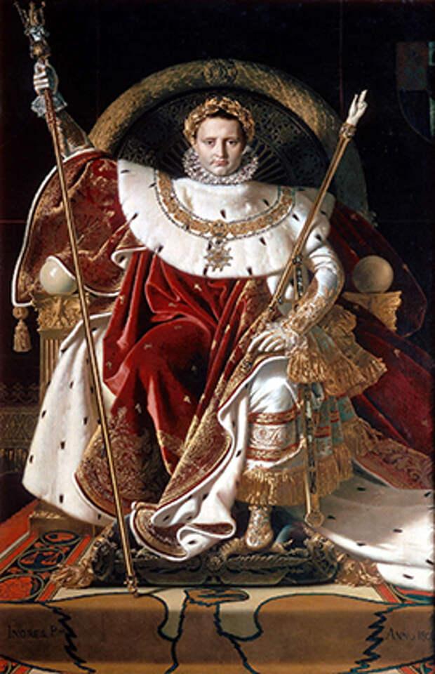 Жан Огюст Доминик Энгр «Портрет Наполеона I». 1806