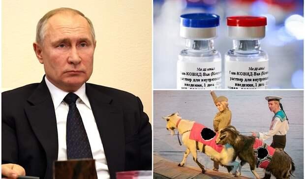 Неделя в Удмуртии: встреча с Путиным, массовая вакцинация, козлы со свастикой