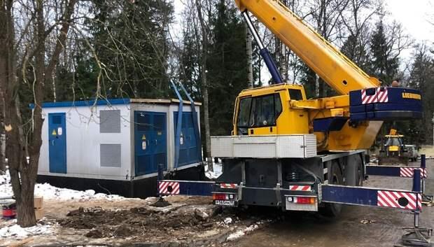 Переоборудованную для лечения коронавируса больницу в Подольске обеспечили электричеством