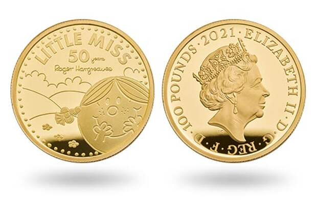 Великобритания эмитирует из золота коллекционные монеты «Маленькая мисс Счастье»